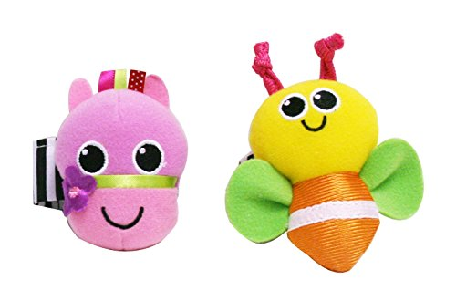 Sassy Horse and Bug Wrist Rattles by Sassy
