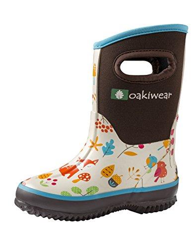 Oakiwear Kids Neoprene Muck Boots - Rain Boots 2 Big Kid
