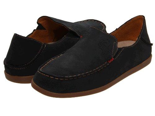 OluKai Nohea Nubuck Shoe - Women's Black/Tan 8.5 by OluKai