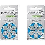 60 Powerone Hearing Aid Batteries No Mercury Size-675, 2 Pack (Batteries)