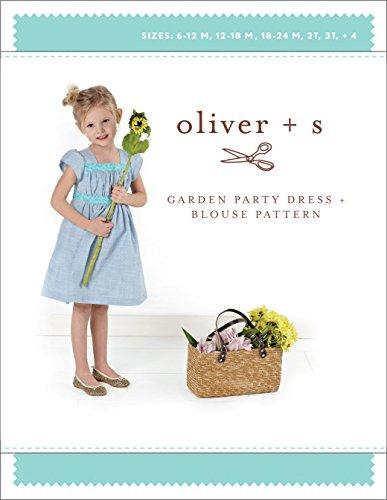 Shirred Dress Pattern (Garden Party Dress + Blouse Sewing Pattern (Sizes 6 m-4))