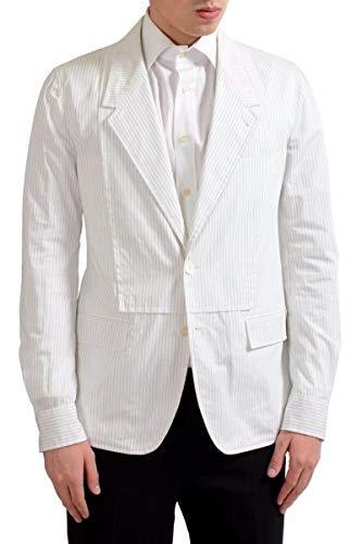 Dolce & Gabbana Men's Striped Light Two Button Blazer Sport Coat US 38 IT 48 Dolce & Gabbana Cotton Coat