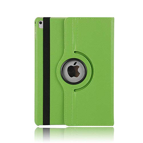 iPad 10.5 Pro Protective Case, TechCode 360 Degree Rotating PU Leather Slim Fit Tablet Protector Smart Stand Feature Flip Folio Protective Case Sleeve for iPad Pro 10.5 Inch(iPad Pro 10.5, Green)