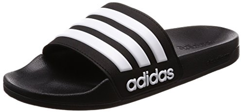adidas Men Adilette Shower Beach and Pool Shoes Black (Core Black/Ftwr White/Core Black)