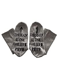 Cotton Novelty Ankle Socks, leegoal Unisex Funny Saying Ankle Socks Ideal Birthday for Father, Mother, Husband, Wife