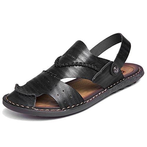 Pantofole Da Da Da Sandali Sandalo Piscina on Pelle Trekking Scarpe Uomo Da Infradito Open Atletico Chiusa In Scarpe Toe Slip Punta Black1 Spiaggia FcpxfqwSn