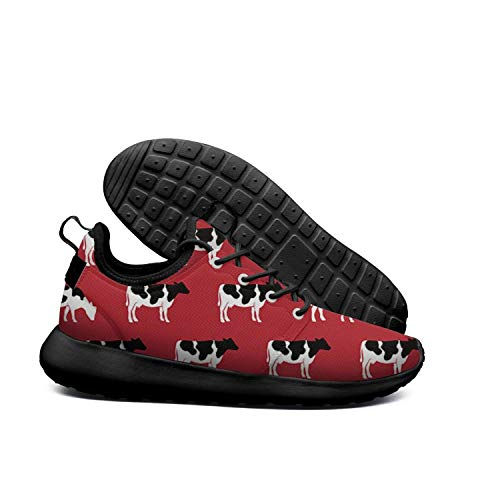 Sneakers Shoe Texture On Skin Cattle Womens Shoes Red Running Animal Cows qwRHCPXn