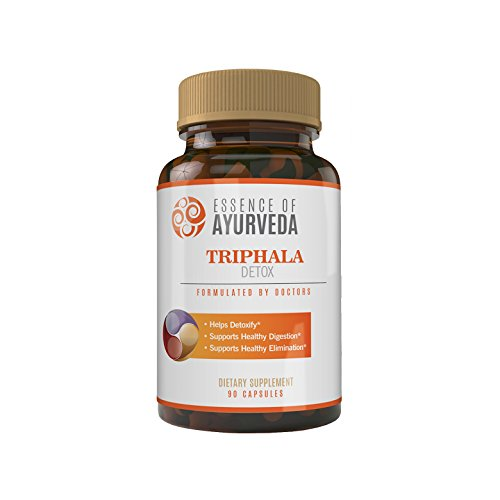 Essence of Ayurveda Triphala Detox Veggie Capsules, 90 Count