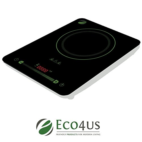 Eco4us - Induction Cooktop with 10 Temperature Levels and Digital Touch Controls. Safe & Easy To Use