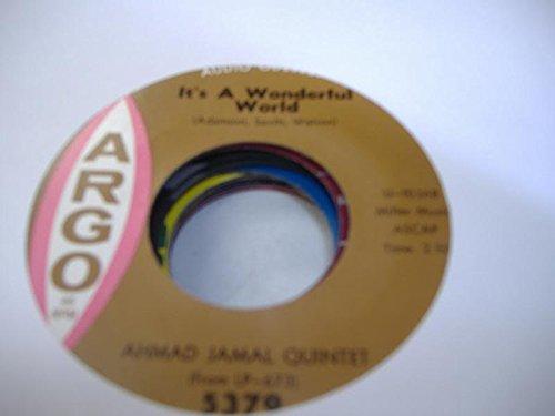AHMAD JAMAL 45 RPM It's A Wonderful World / Valentina
