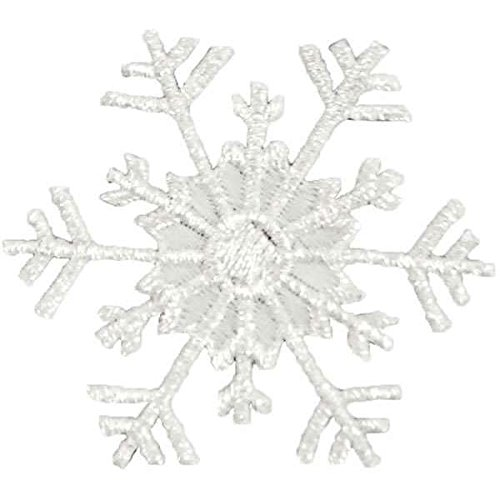 (Expo International Christmas Large Branch Snowflake Iron-on Applique Trim Embellishment, Silver)