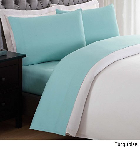 My World LHK-SHEETSET Solid Turquoise Twin XL Sheet Set,