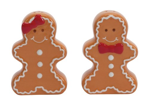 Boston Warehouse Gingerbread Man Sugar and Spice Salt and Pepper Set
