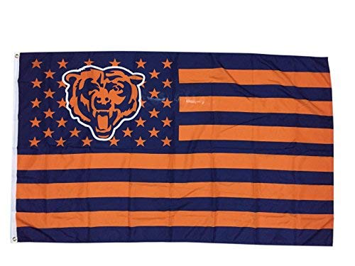 (Large Funny Bear stars and stripes Flag)