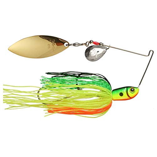 Strike King Premier Plus Spinnerbaits - Colorado/Willow (Fire Tiger, 0.375-Ounce) (0.375 Ounce Tiger)