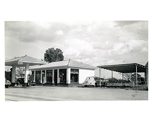 1941 Pure Oil Gas Station Photo Poster Alpine NC Gas Globe Coca ()