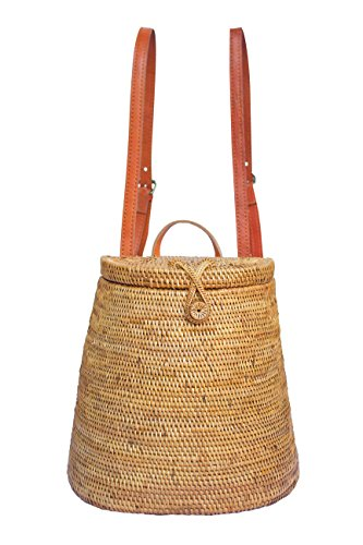 Backpack Ata wicker basket bag