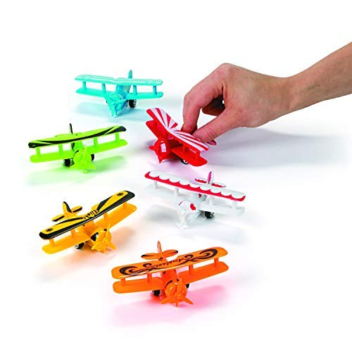 (Fun Express Plastic Pullback Airplanes Planes Party Favor Toys - 12 pieces)
