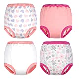 2020 Updated Cotton Training Pants Strong Absorbent Toddler Training Underwear for Baby Girl and Boy 12M-4T