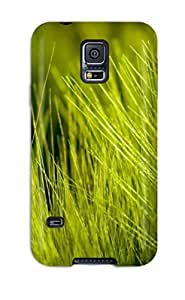 Premium Tpu Green Grass Cover Skin For Galaxy S5