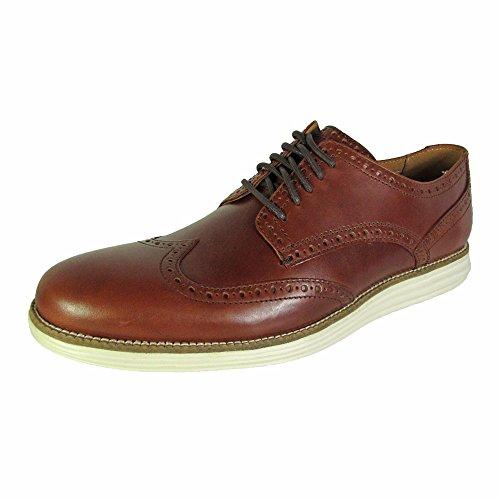 Cole Haan Men Original Grand Wingtip Oxford Shoe, Chestnut/Ivory, US 7