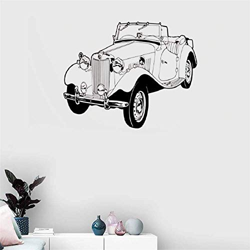 Quotes Art Decals Vinyl Removable Wall Stickers Classic Mg Cabriolet for Living Room Boys ROM