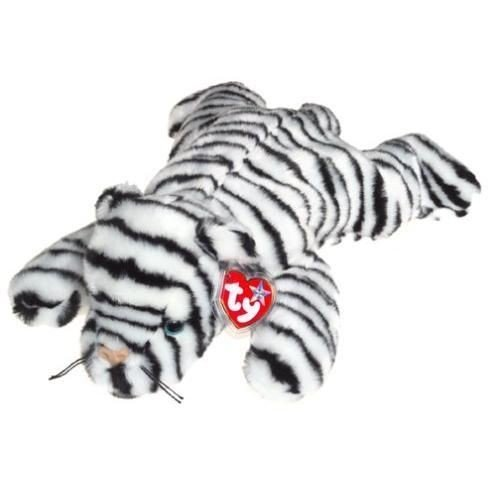 Nceonshop(TM) TY Beanie Buddy - WHITE TIGER the Tiger (Blizzard) New