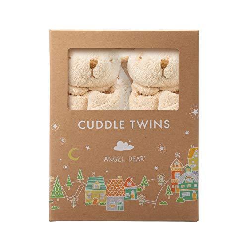 Angel Dear Cuddle Twins Blankie, Biege Bunny