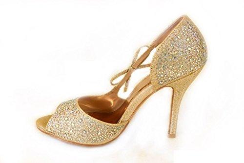 A pour Sandales T33 femme Rose SKO'S Gold 4AHRq5w