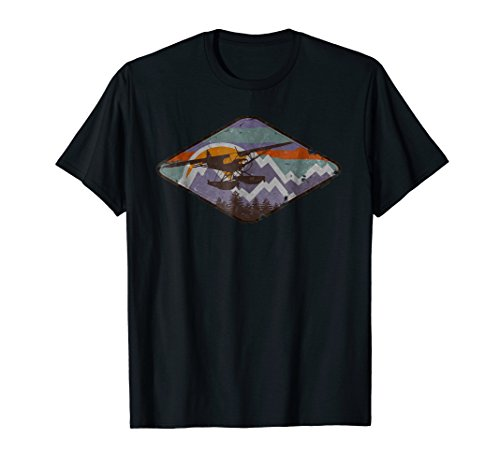 Super Cub Floats (Super Cub on Float Vintage Mountain Sunset Flying Pilot Tee)