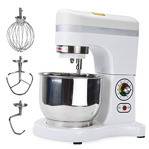 SHANGPEIXUAN Commercial Mixer Kneading 6.5-Quart 10-Speed Heavy Duty Kitchen Mixer MachineWhite (6.5-Quart)