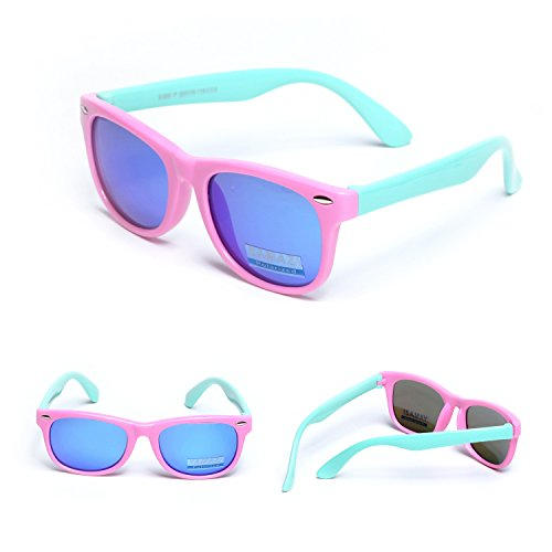 fb38a570f7 YAMAZI Kids Polarized Sunglasses Sports Fashion For Boys And Girls Mirrored  Lens