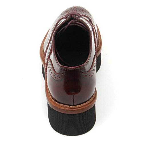 Inglese Bucature Shoe Tod's T50 Donna Scarpa Woman B9638 3a Bordeaux 5Pfq11
