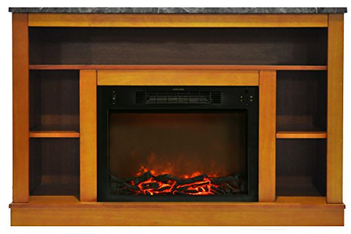 "Cambridge Seville Electric Fireplace for Most Flat-Panel TVs Up to 50"" Teak CAM5021-1TEK"