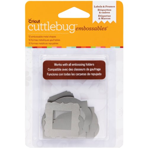 Cuttlebug Cricut Embossable Metal Shapes, Labels and Frames, (Provo Craft Frames)
