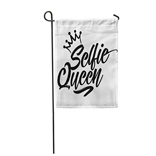 (Tarolo Decoration Flag Saying Selfie Queen Conceptual Text Hand Letter Script Word Scrap Booking Other Sets Girl Thick Fabric Double Sided Home Garden Flag 12