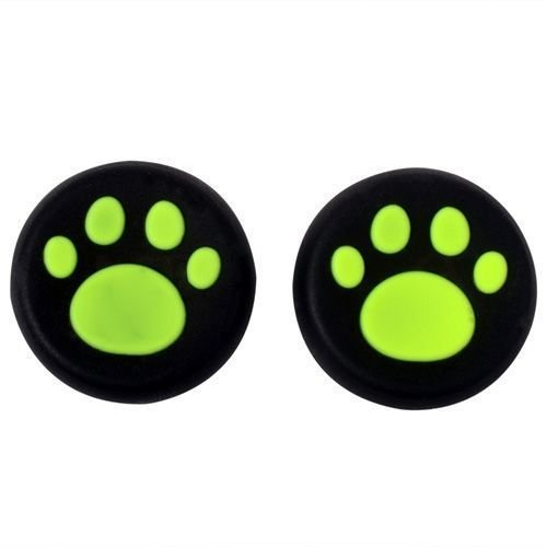 Analog Thumb Stick Grip Covers Thumbstick Joystick Cap Cover for PS4 PS3 PS2 PS4 Pro Slim Xbox One Xbox 360 (Green)