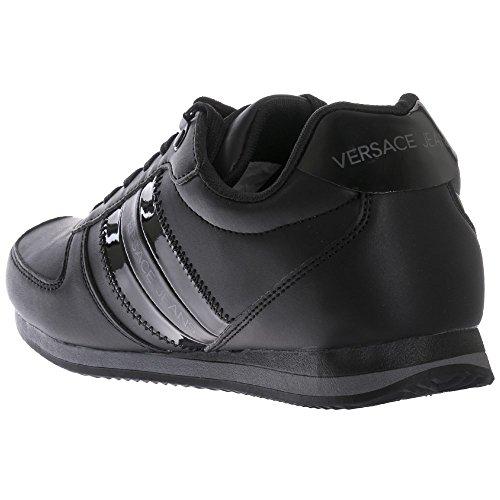 Versace Jeans Side Stripe Uomo Sneaker Nero Noir