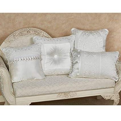 Amazon.com: J Queen New York, Inc. Bianco Beaded Pillow ...