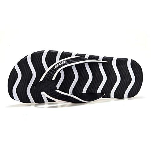 MONAcwe Flip Flops Sandalen Hausschuhe Sommer Große Größe Hausschuhe Männer rutschfeste Flip Flops Herren Strand Schuhe jeden Tag Bad Hausschuhe Männer Schwarz