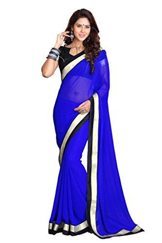 Royal Blue Saree - 4