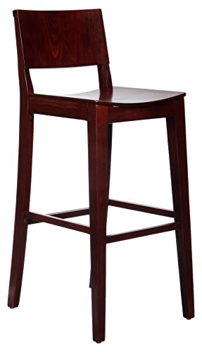 Beechwood Mountain BSD-83B-M  Solid Beech Wood Bar Stool in Magany for Kitchen and dining Review
