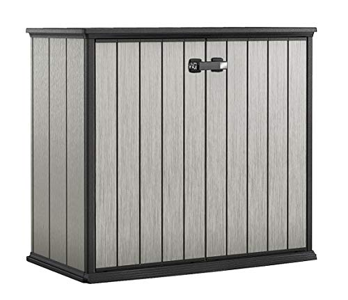 Keter Patio Store Resin Outdoor Shed for Garden Deck, and Tool Storage, Grey (Keter Patio Store)