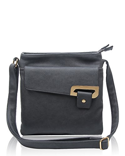 RS.FASHIONS Messenger Bags, Borsa a tracolla donna Multi Colour M Dark Grey