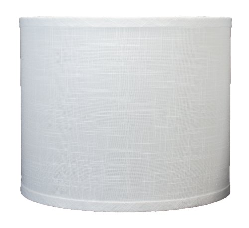 Urbanest Linen Drum Lamp Shade, 12-inch by 12-inch by 10-inch, Off White, Spider