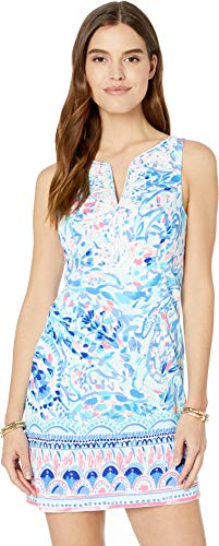 - Lilly Pulitzer Women's Gabby Shift Breakwater Tint Party Wave Engineered Shift 6