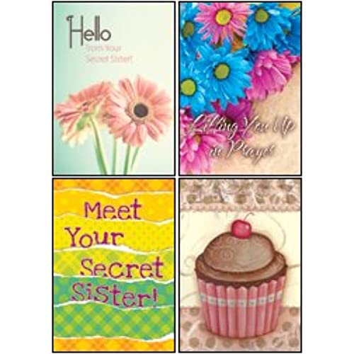Secret Sister - KJV and NIV Scripture Greeting Cards - Boxed - All Occasion, 12 Cards Per Box Sales