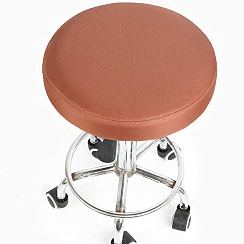 (Dining Chair Covers Round Bar Stool Cover Protector Cotton Fabric Seat for Dentist Hair Salon Home Slipcovers)