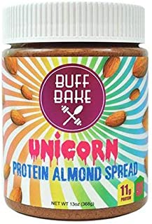 product image for Protein Almond Butter - Nut Butter Spread with 11g of Whey Protein, Gluten Free, Non-Gmo (Unicorn, 13 Oz)