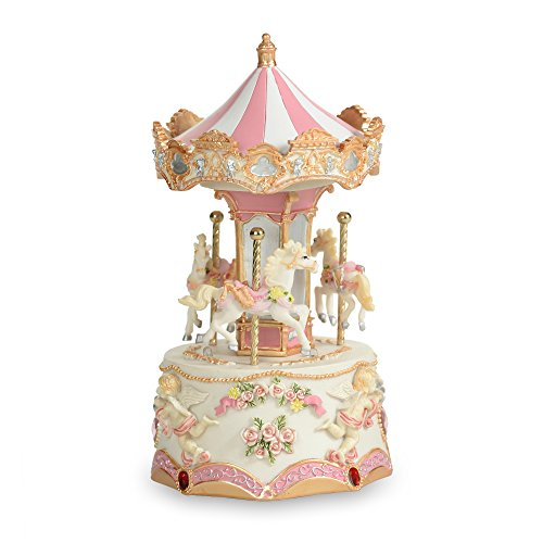THE SAN FRANCISCO MUSIC BOX COMPANY Carousel Decoration - three horses (Mini)
